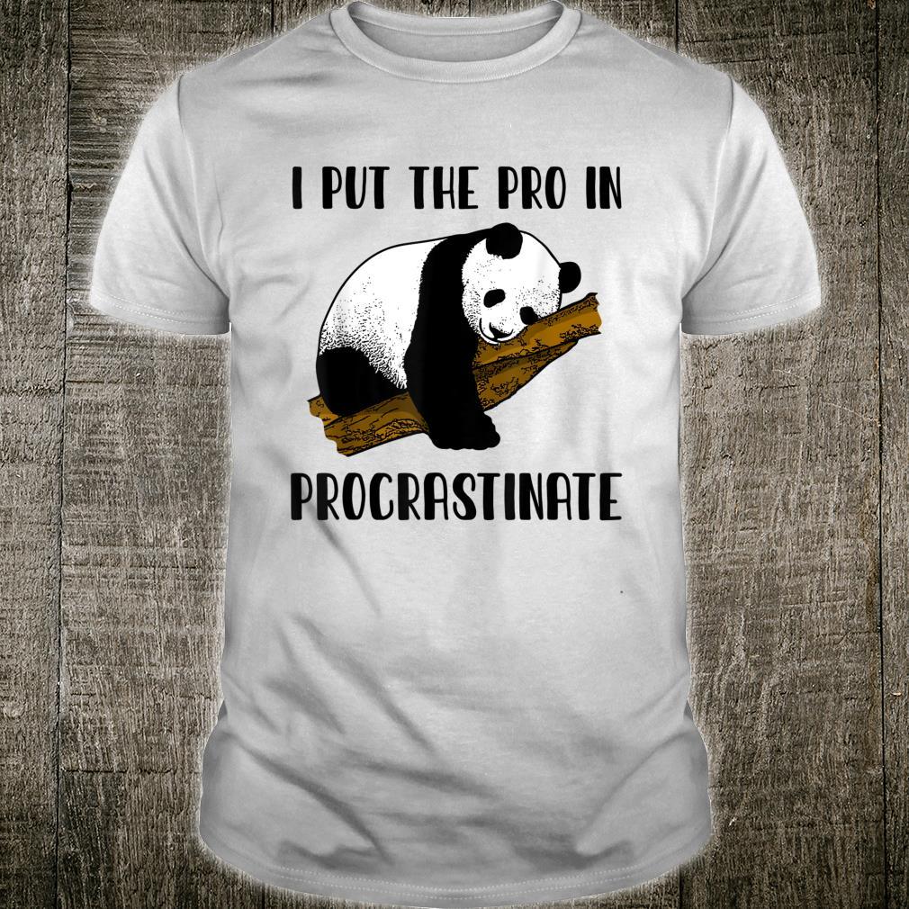 Panda Vintage I Put the Pro in Procrastinate Panda Shirt