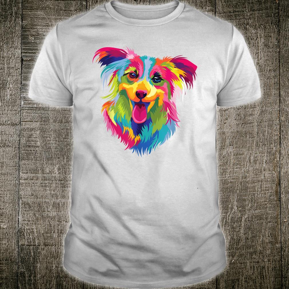Papillon Retro Pop Art Dog Owner Shirt