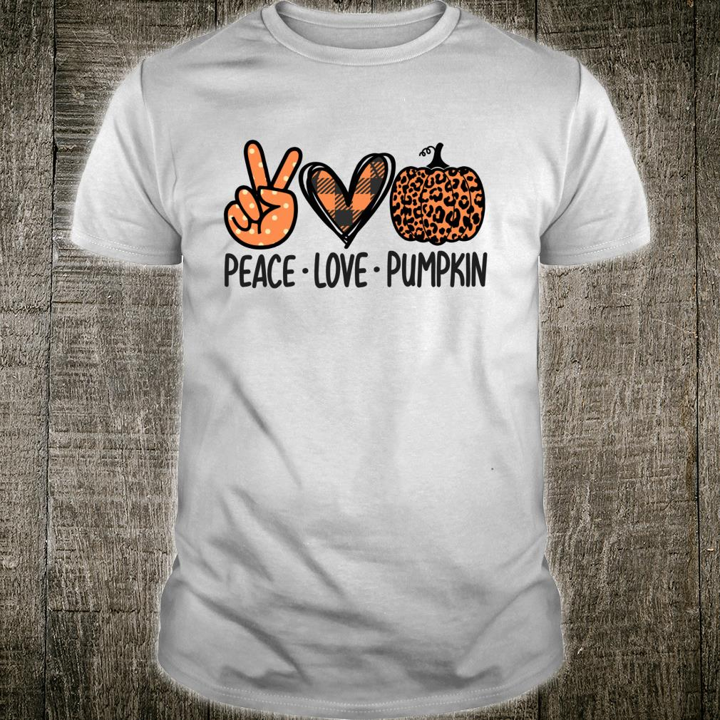 Peace Love Pumpkin Thanksgiving Leopard Pumpkin Print Shirt