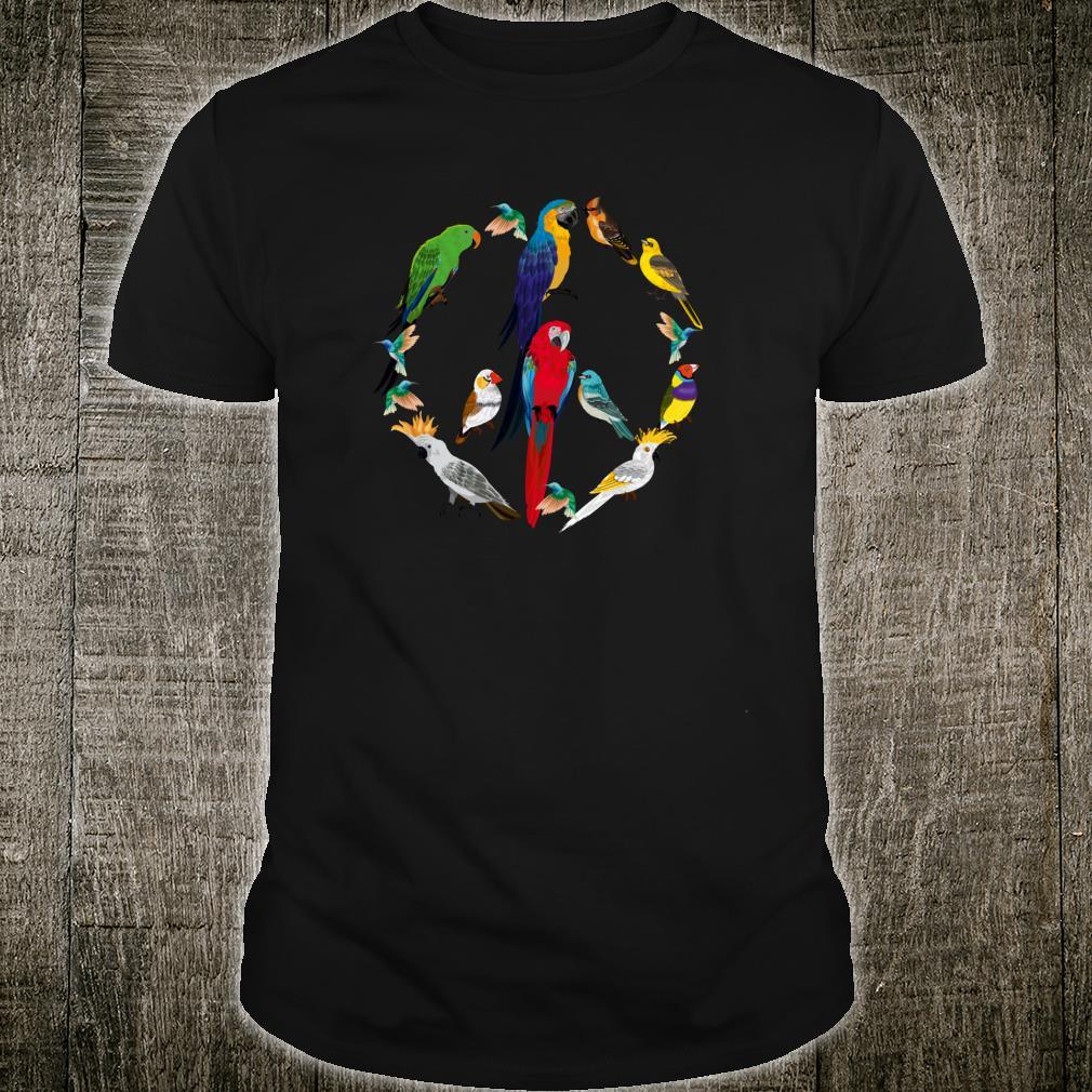 Peace Sign Birds 60's 70s Retro Pacifist World Shirt