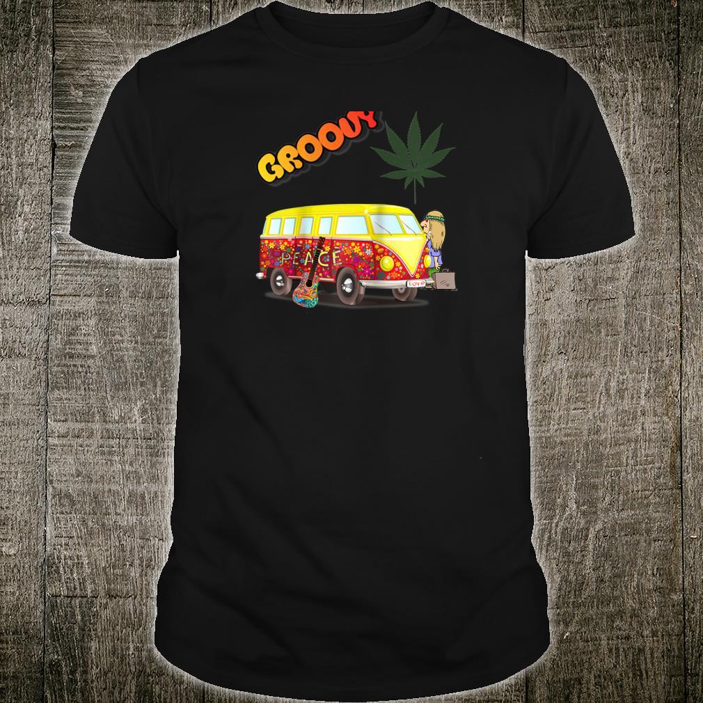 Peace and Love Groovy 1960s Hippie Van Shirt