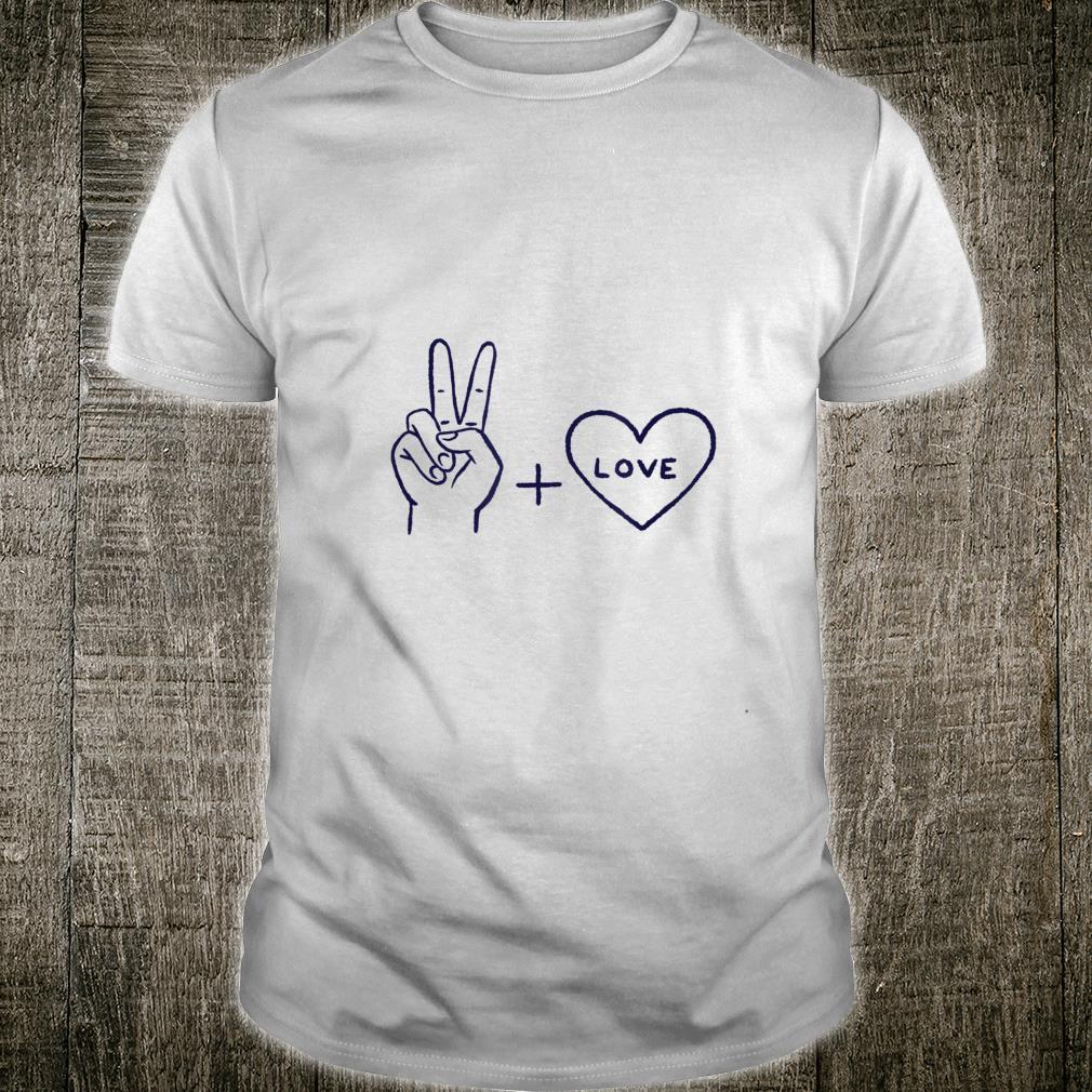 Peace and Love Hand Zeichen Friede Liebe Geschenkidee Shirt