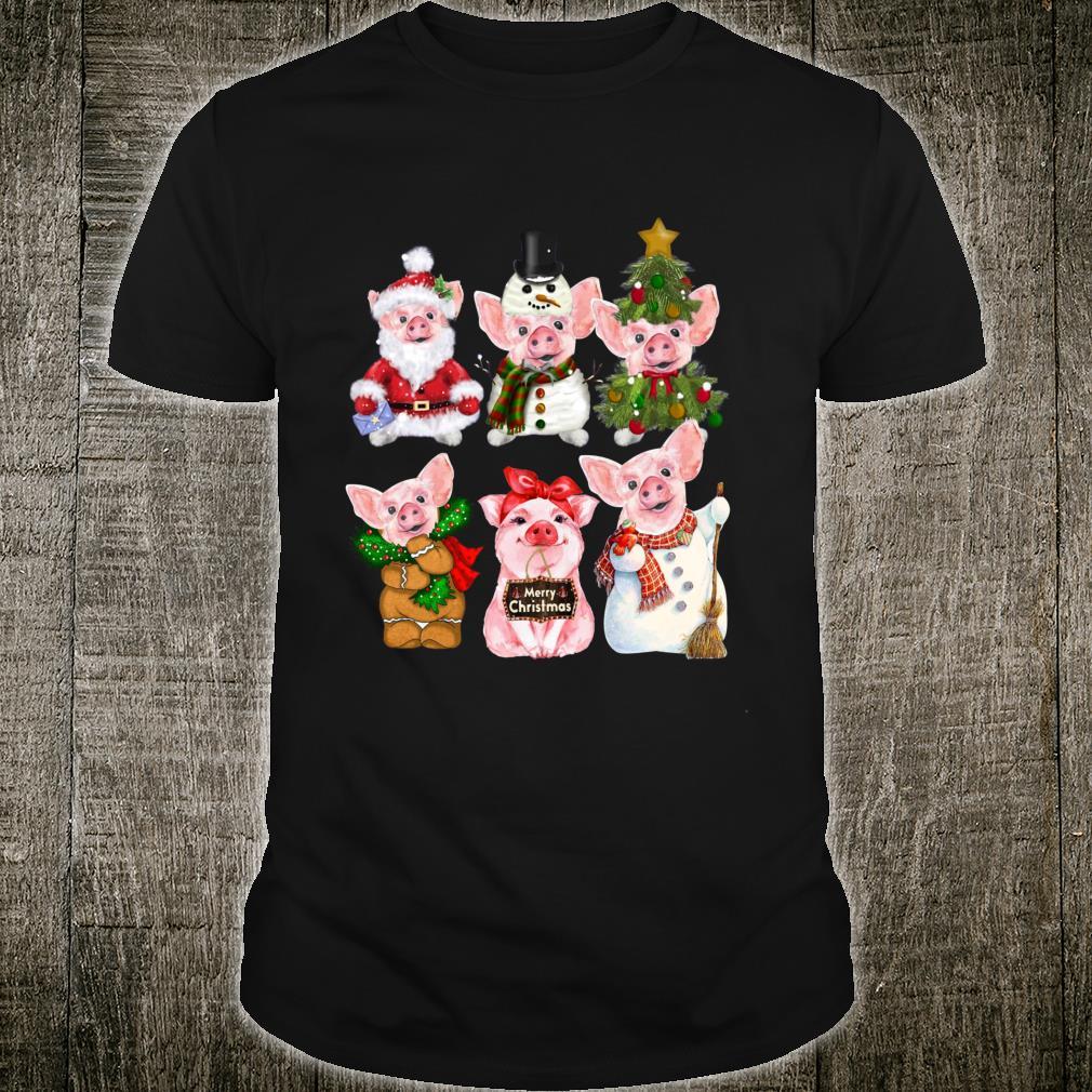 Pig Ornament Decoration Christmas Tree Merry Pigmas Xmas Shirt