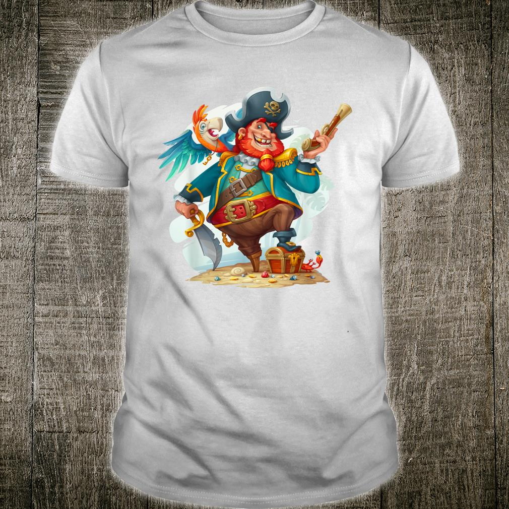 Pirate Captain with a Treasure Chest Shirt