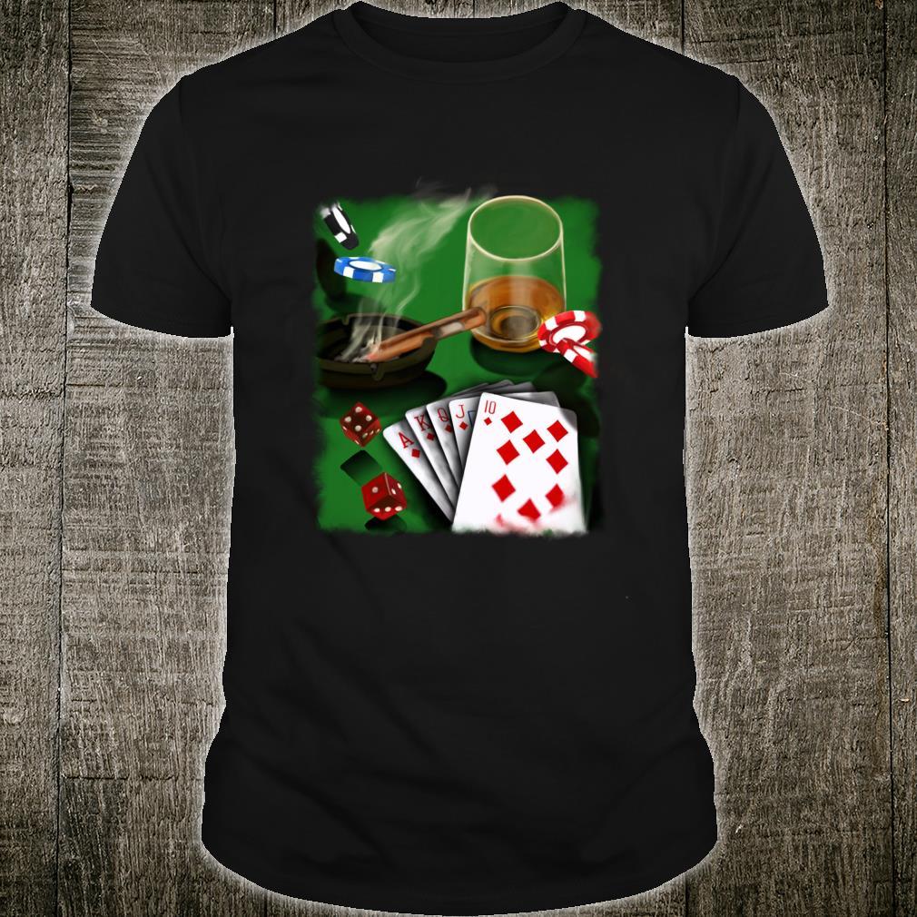 Poker Geschenk Glücksspiel Poker Spieler Shirt