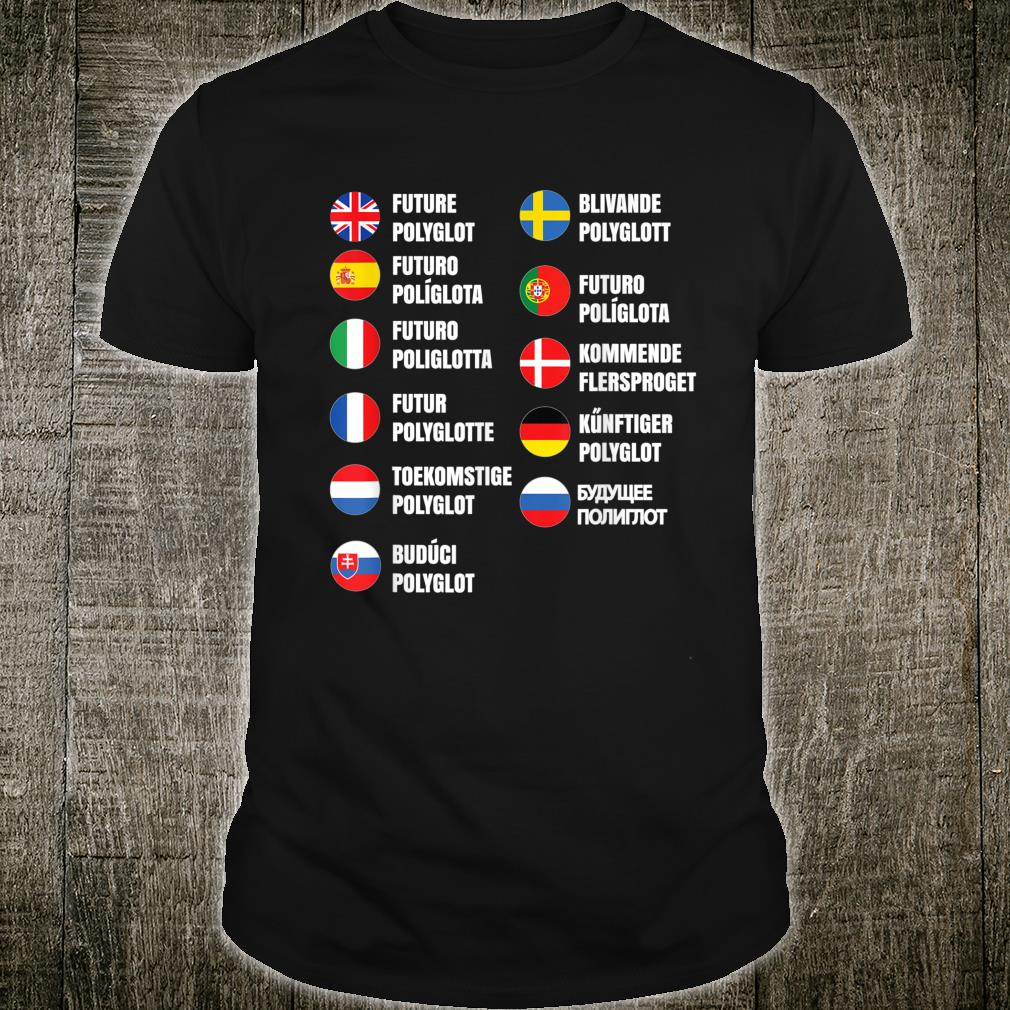 Polyglot Inspired Multilingual Related Linguist Design Shirt