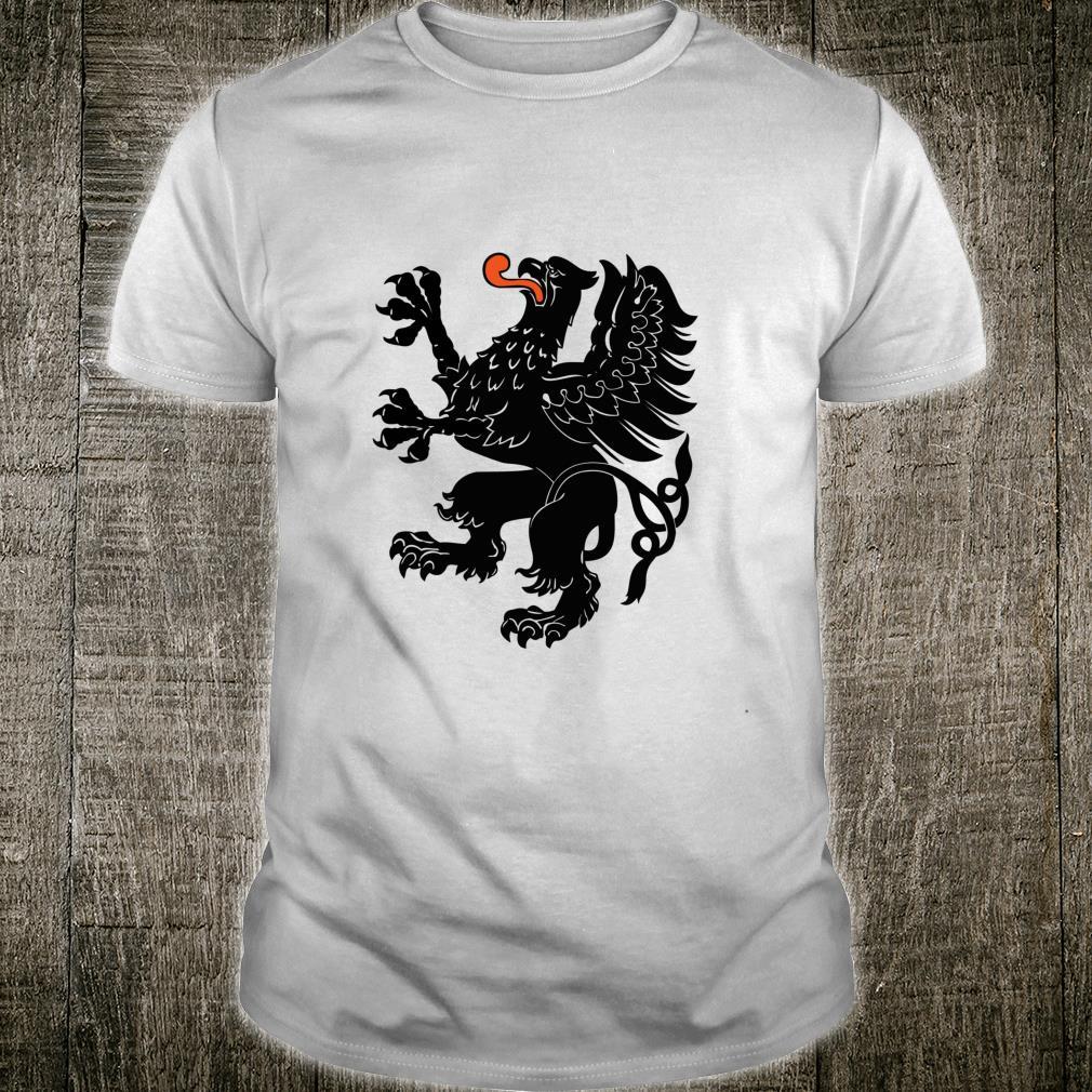 Pomorskie Province Polska Black Griffin Flag Of Pomerania Shirt