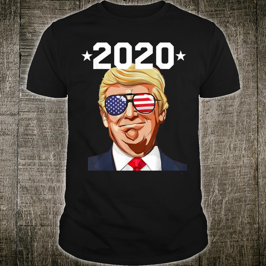 Pro Donald Trump 2020 Election American Flag Sunglasses Shirt