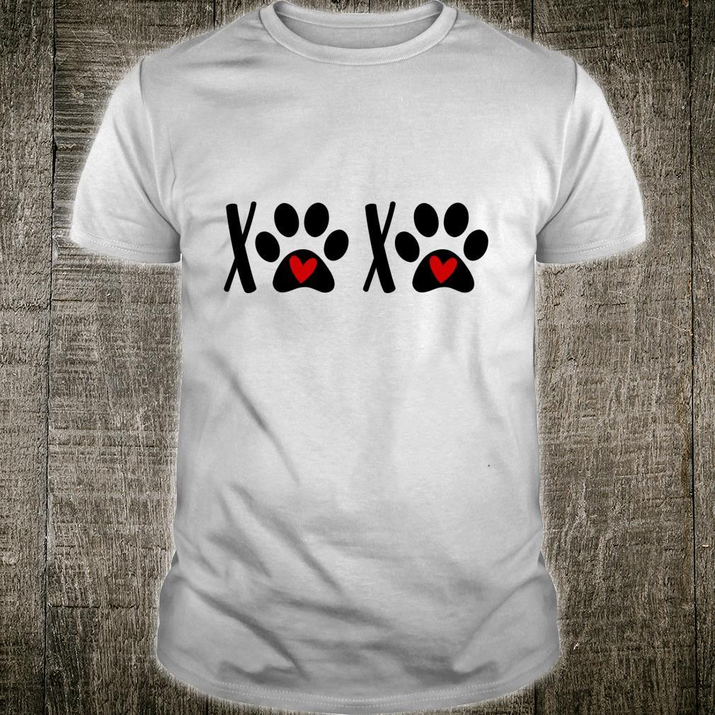 Puppy Dog Paw Print Dog Heart Cat Mom Love Pet Paw Shirt