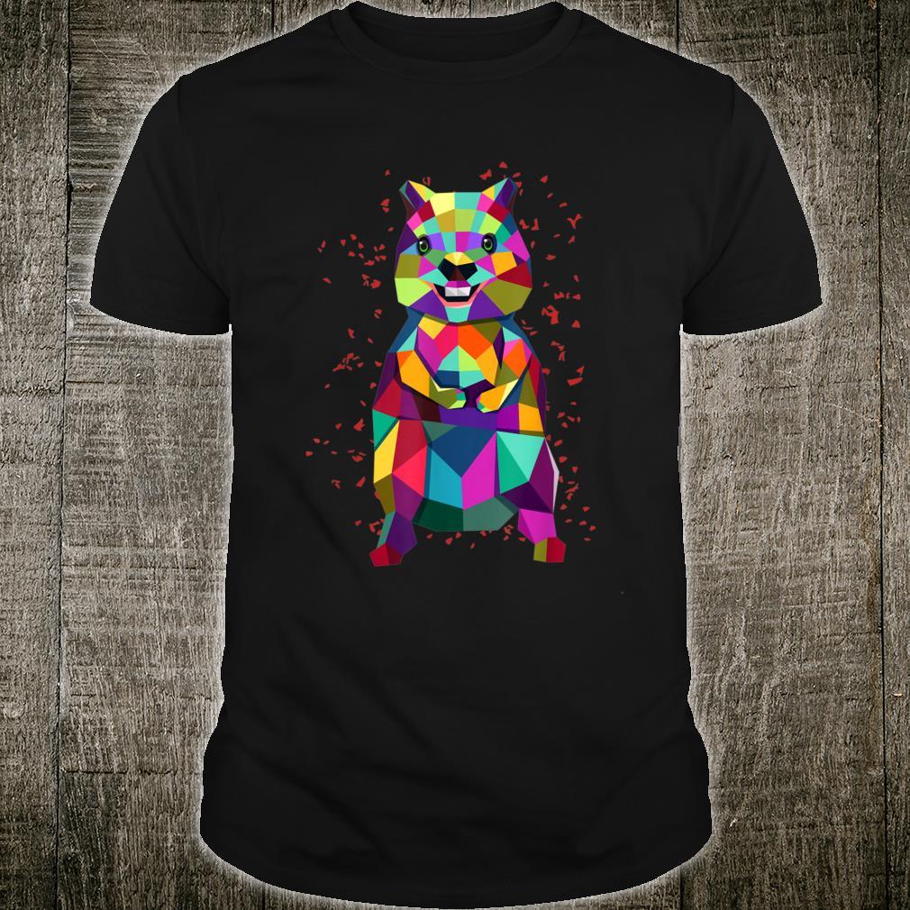 Quokka Australian Geometrical Happiest Animal Shirt