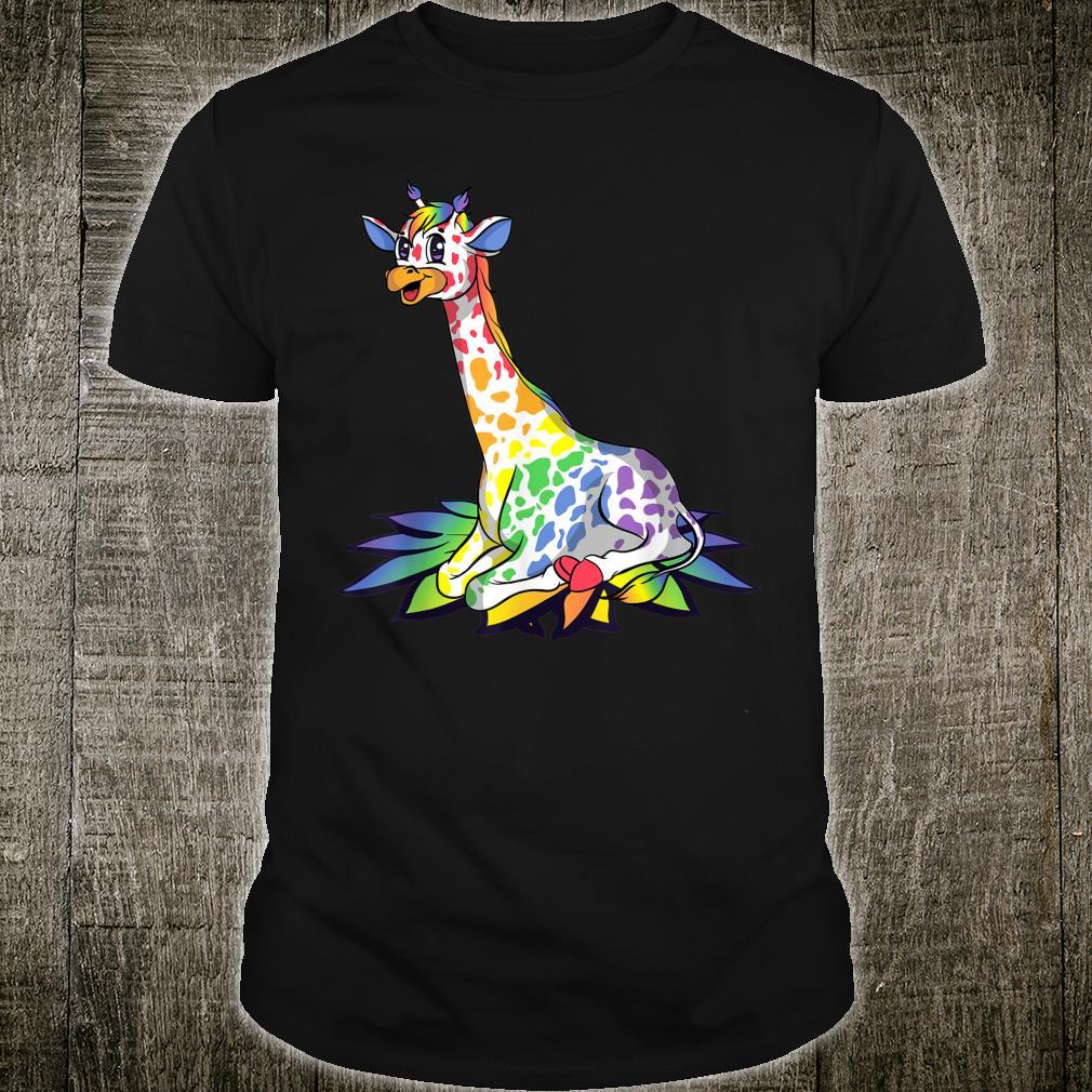Rainbow Giraffe Gay Pride Shirt