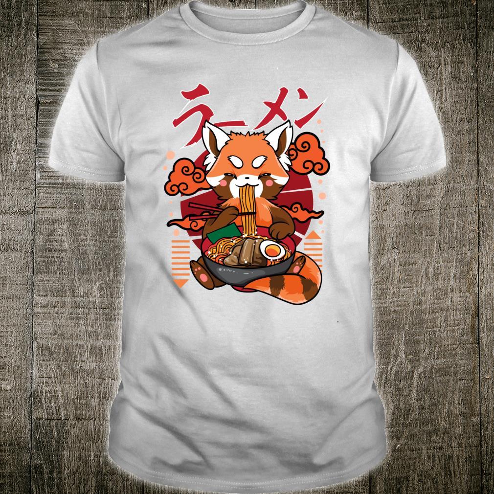 Red Panda Ramen Japanese Noodles Red Pandas Shirt