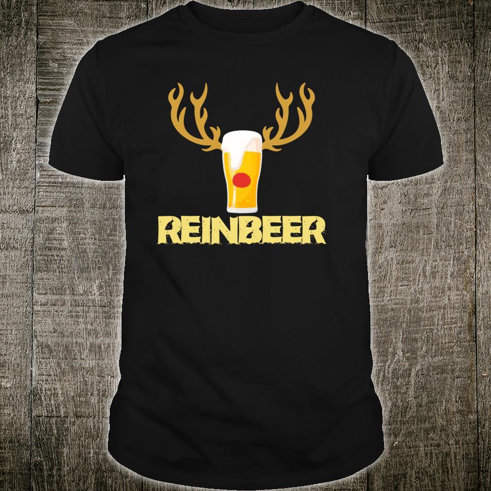 Reinbeer Reindeer Drinking Christmas Shirt
