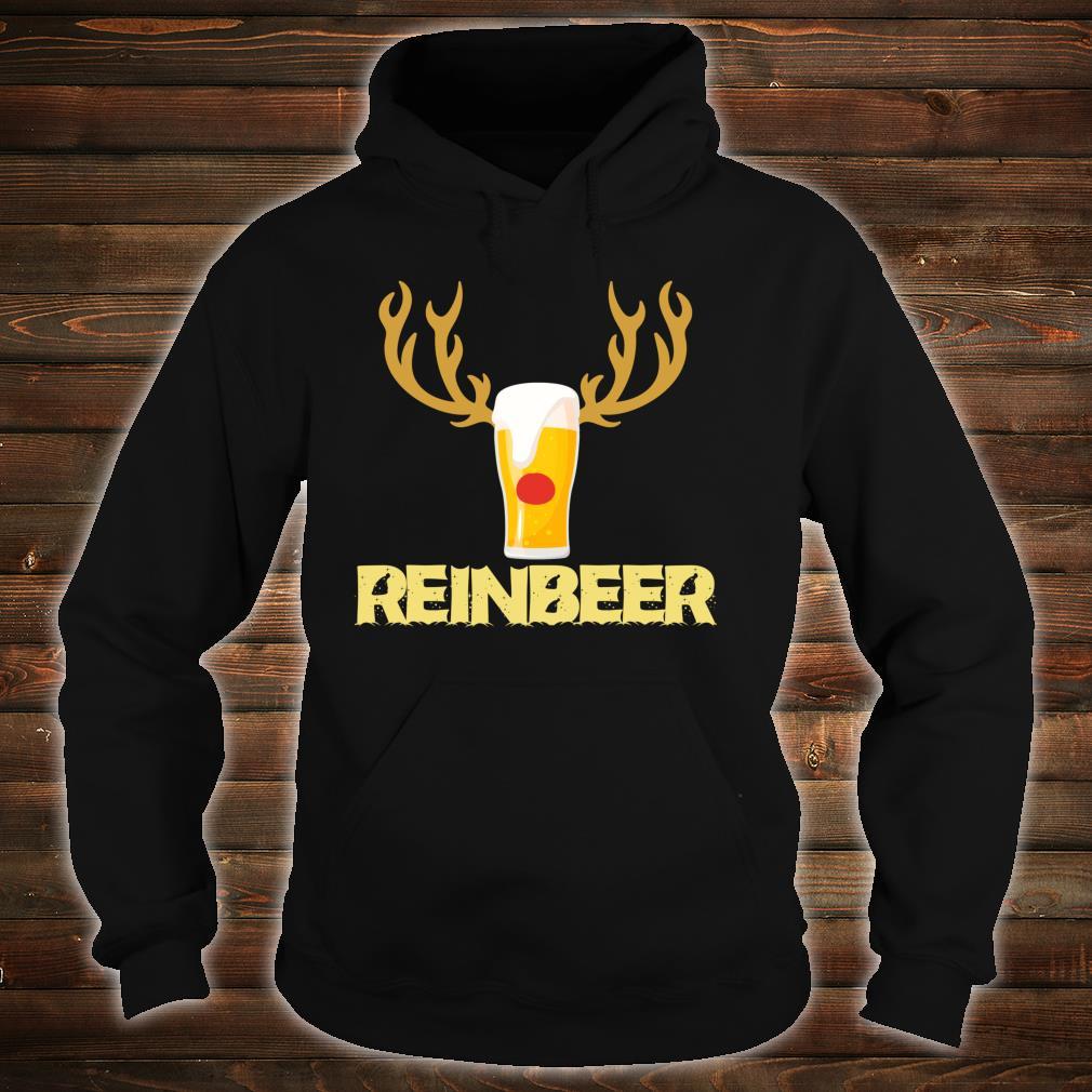 Reinbeer Reindeer Drinking Christmas Shirt hoodie