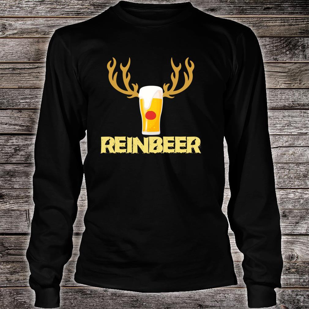 Reinbeer Reindeer Drinking Christmas Shirt long sleeved