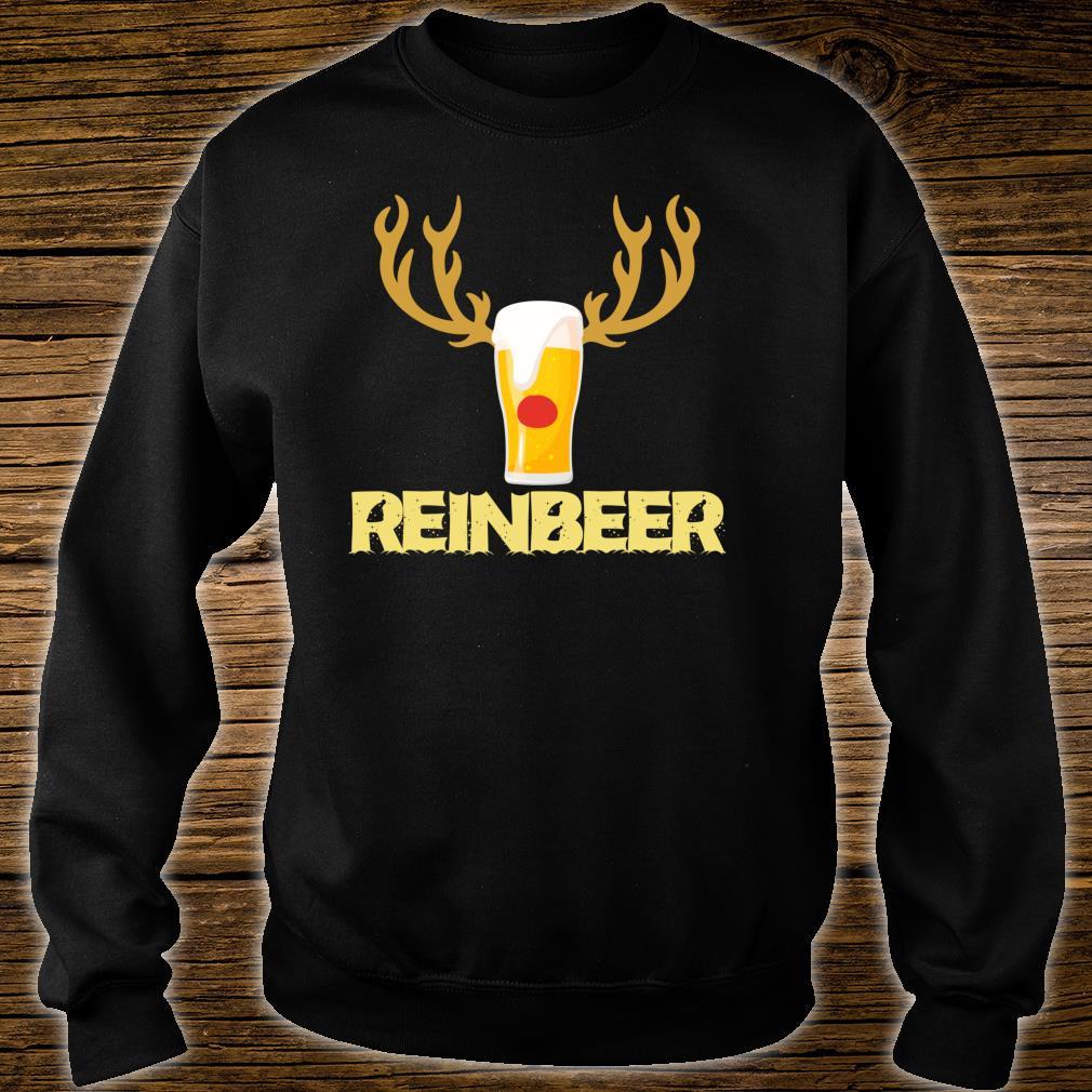 Reinbeer Reindeer Drinking Christmas Shirt sweater