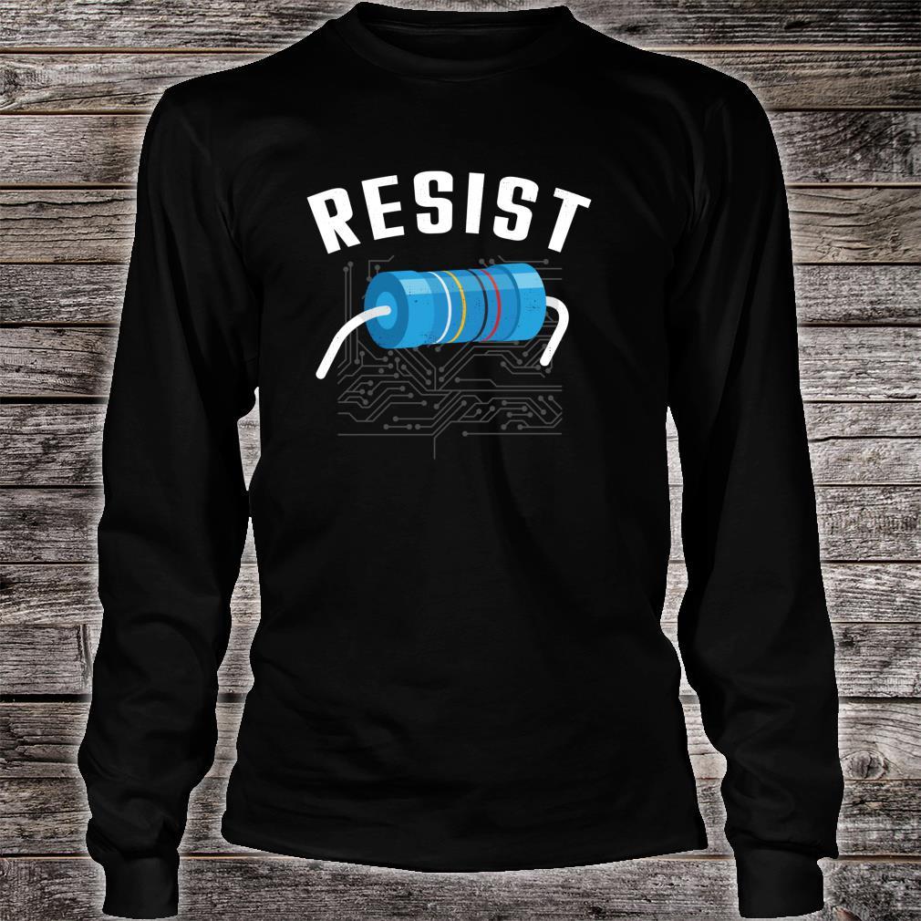 Resistor Electronic Science Nerd Design Shirt long sleeved