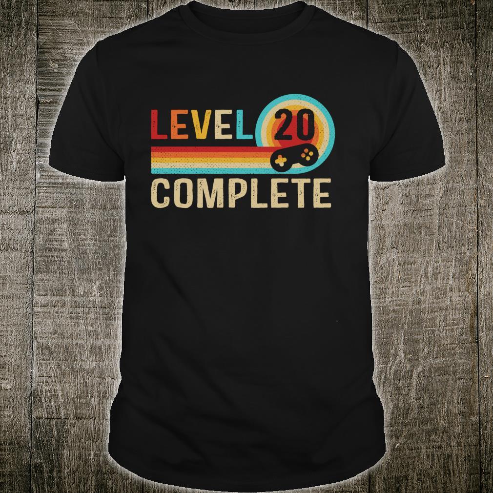 Retro 20th Birthday Girls Level 20 Complete Shirt