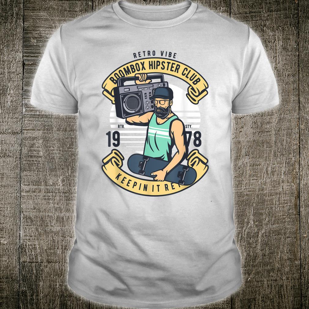 Retro 80s Throwback Music Boombox Beatbox Ghettoblaster Shirt