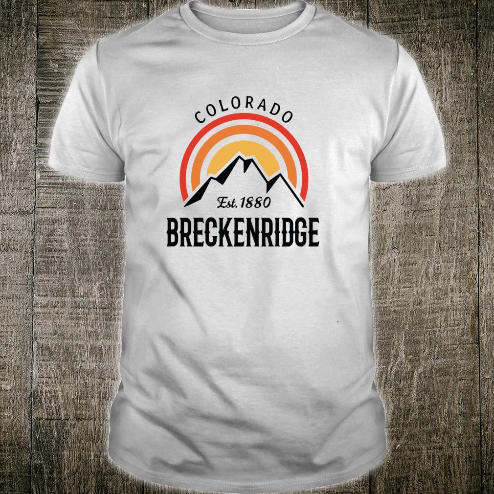 Retro Cool Breckenridge Colorado Rocky Mountains Novelty Art Shirt