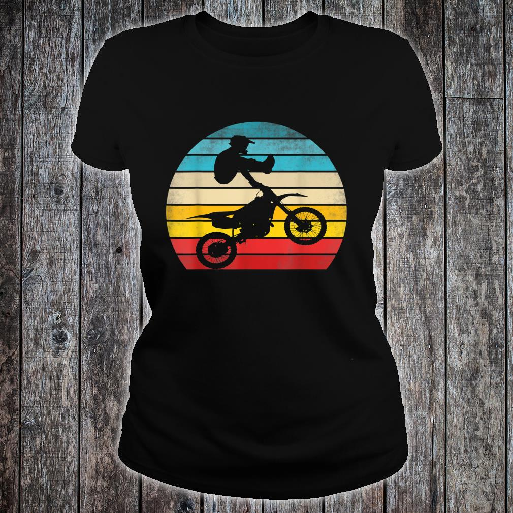 Retro Motocross Motorrad Dirt Bike Rennen Vintage Biker Shirt ladies tee