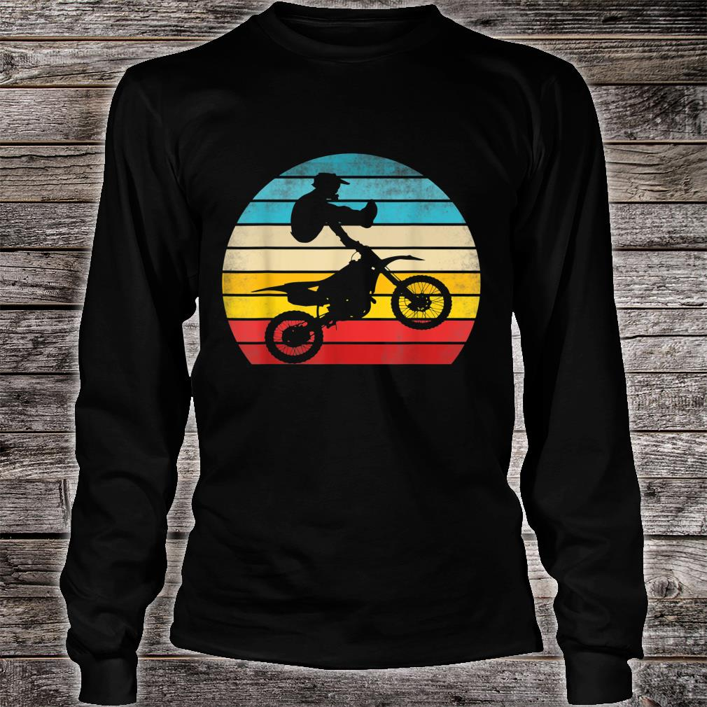 Retro Motocross Motorrad Dirt Bike Rennen Vintage Biker Shirt long sleeved