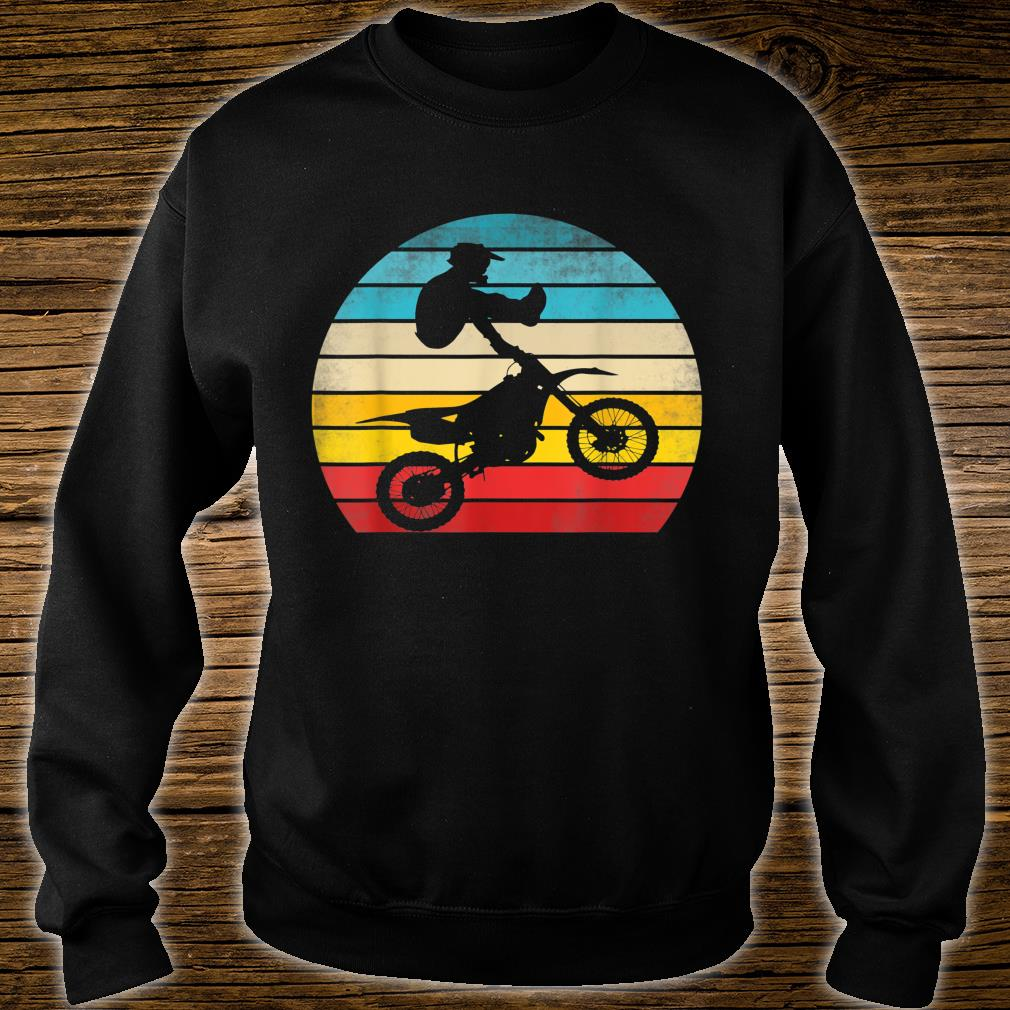 Retro Motocross Motorrad Dirt Bike Rennen Vintage Biker Shirt sweater