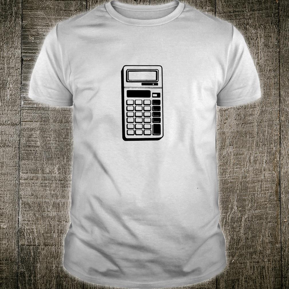 Retro School Calculator Print Shirt