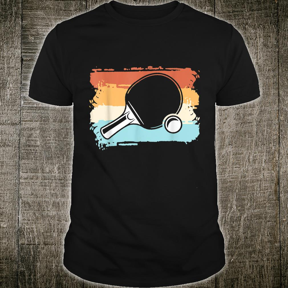 Retro Tischtennis Design Tischtennisschläger Geschenkidee Shirt