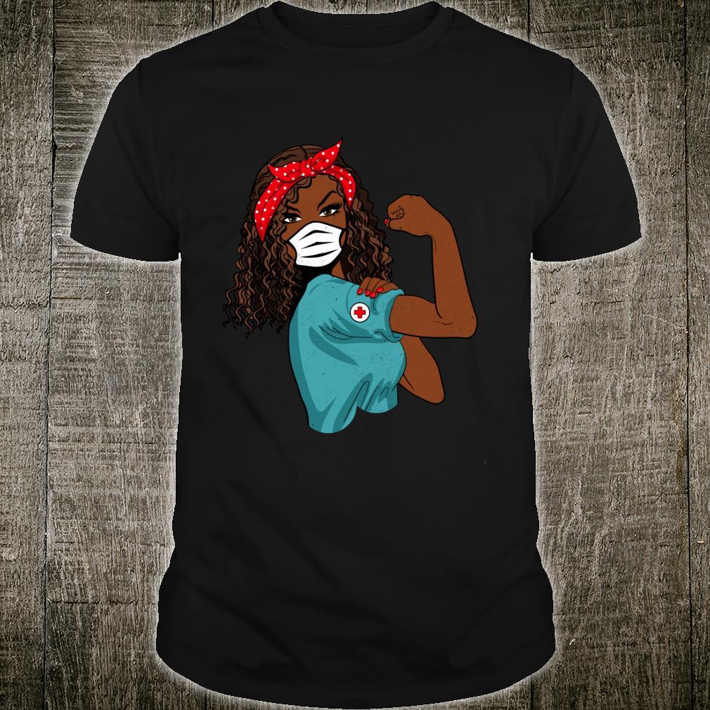 Retro schwarze Krankenschwester mit Maske Shirt