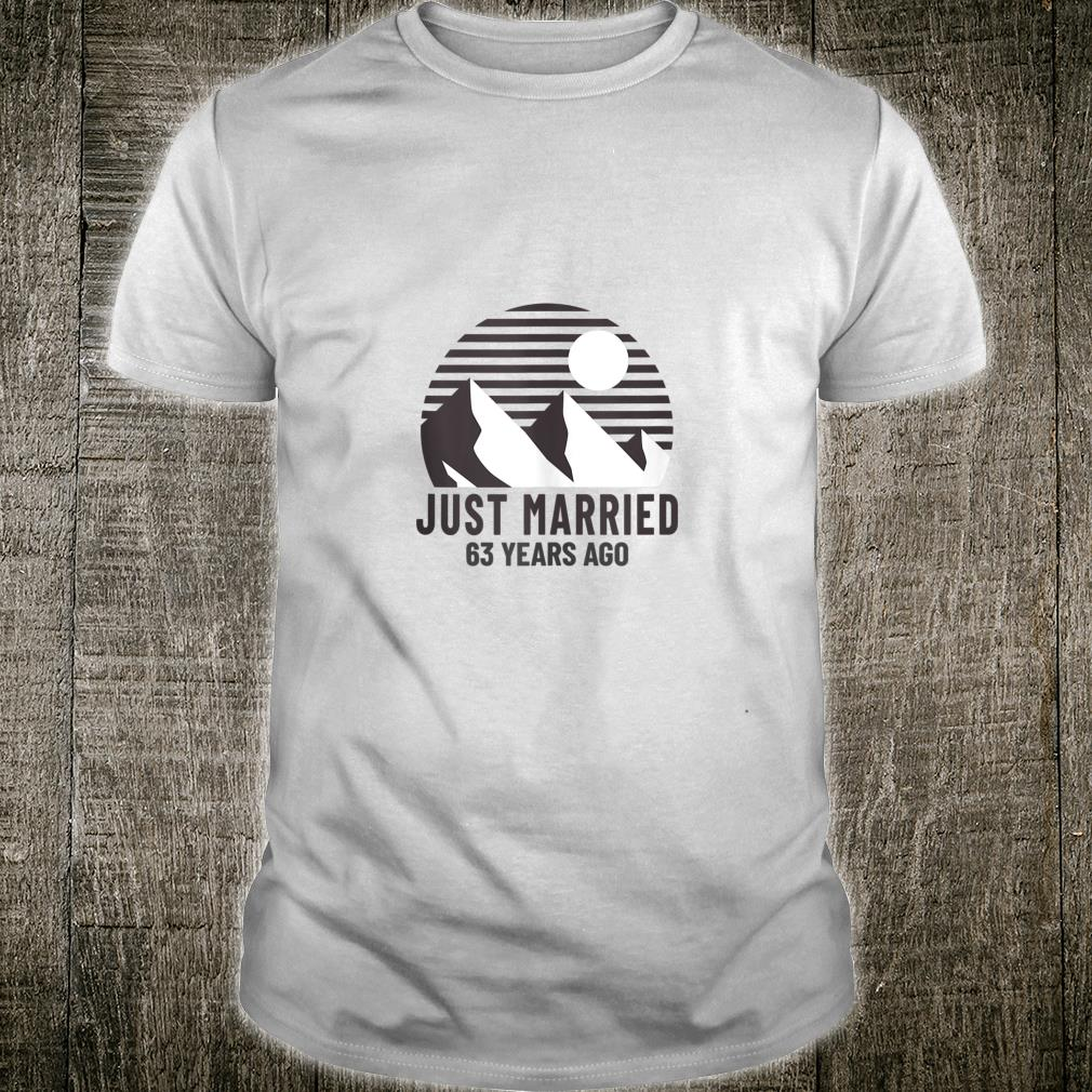 Romantic Matching Couples Shirt 63rd Wedding Anniversary Shirt