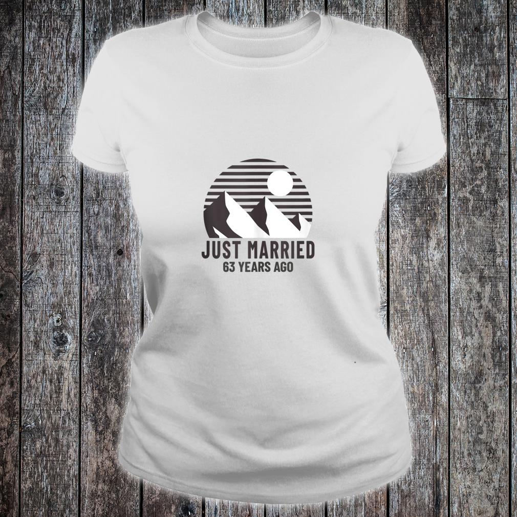 Romantic Matching Couples Shirt 63rd Wedding Anniversary Shirt ladies tee