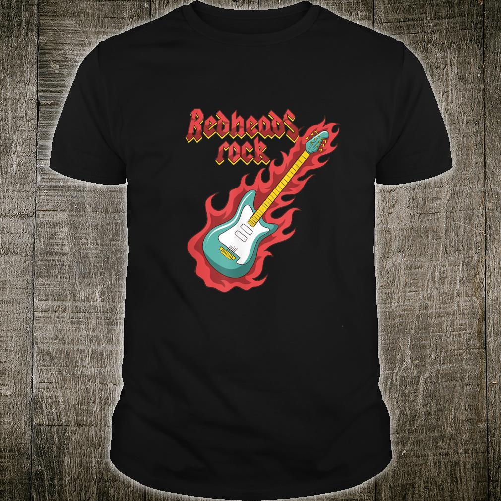 Rothaarige Redheads RockGitarrist Bassist Ginger Musiker Shirt