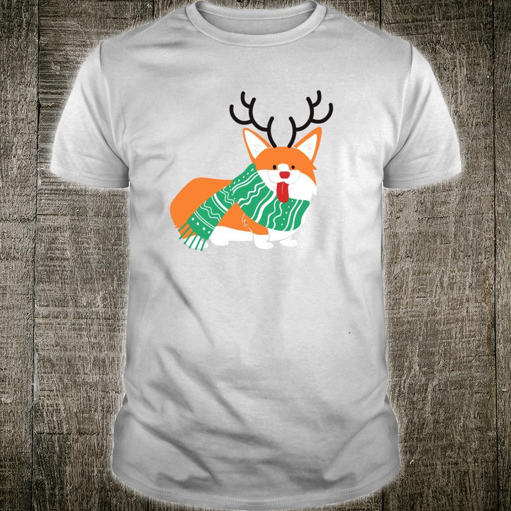 Rudolph The Red Nosed Corgi Cute Christmas Dog Shirt