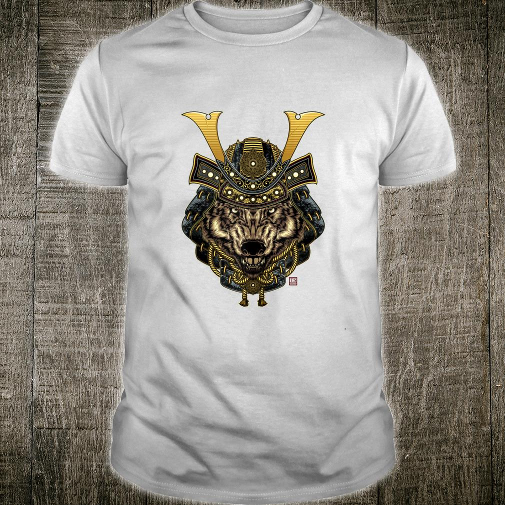 Samurai Wolf Design Shirt