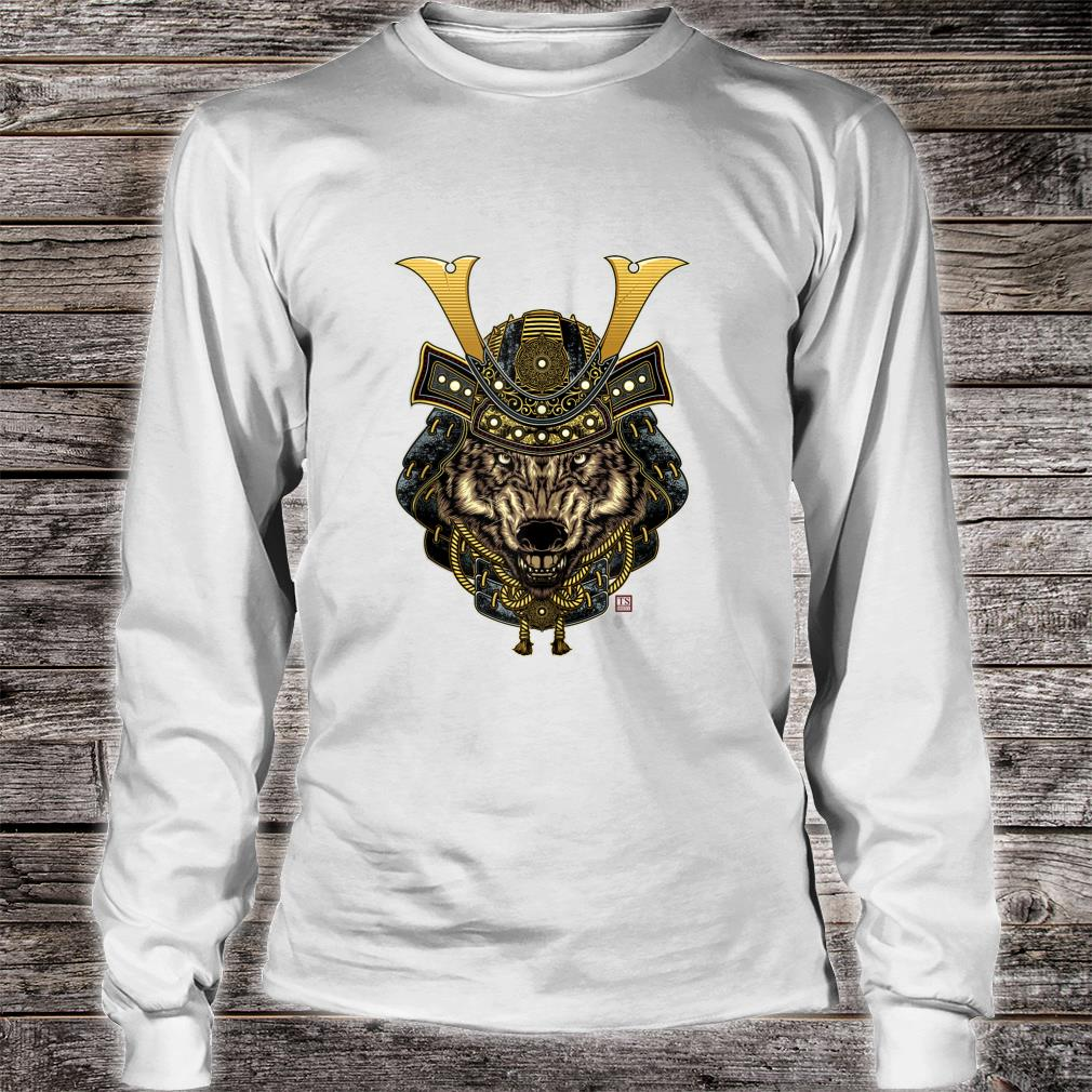 Samurai Wolf Design Shirt long sleeved