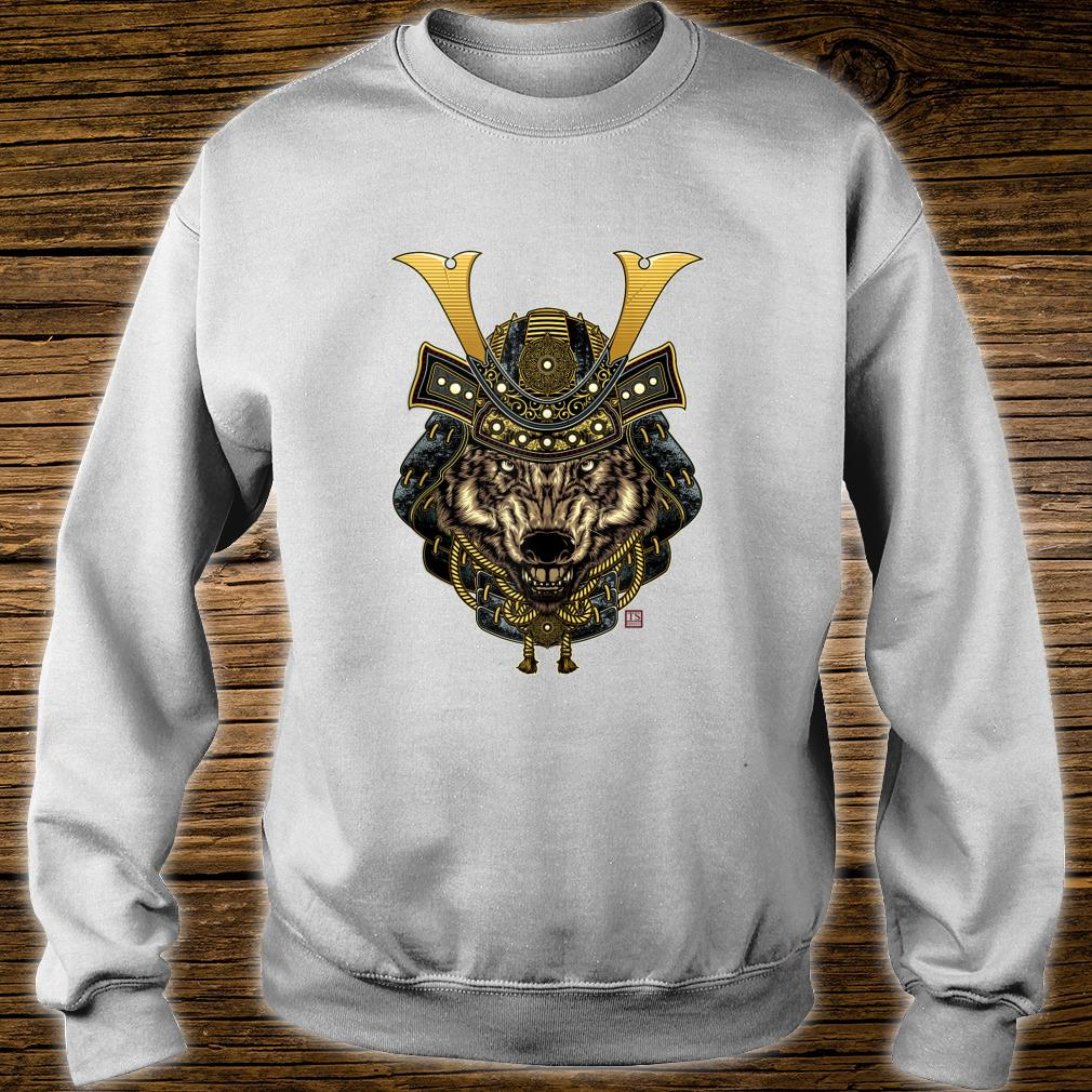 Samurai Wolf Design Shirt sweater