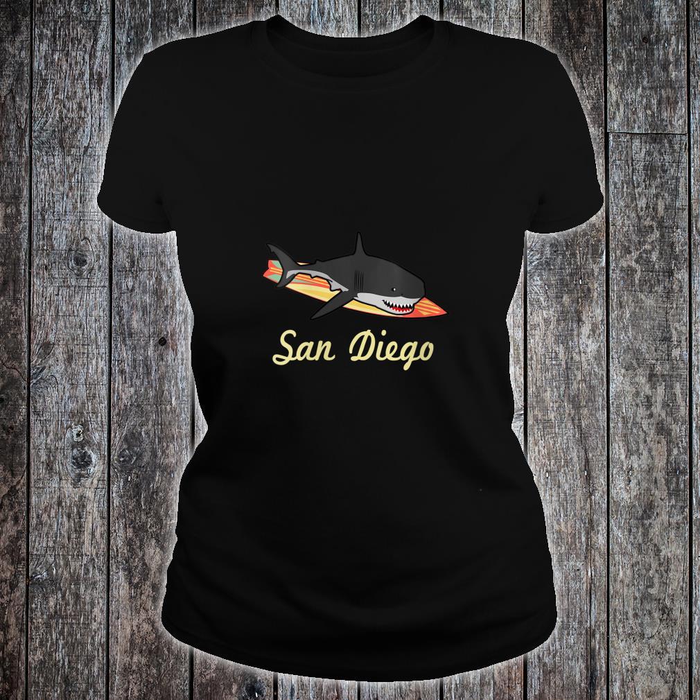 San Diego Beach Souvenir Surf Californias Shirt ladies tee