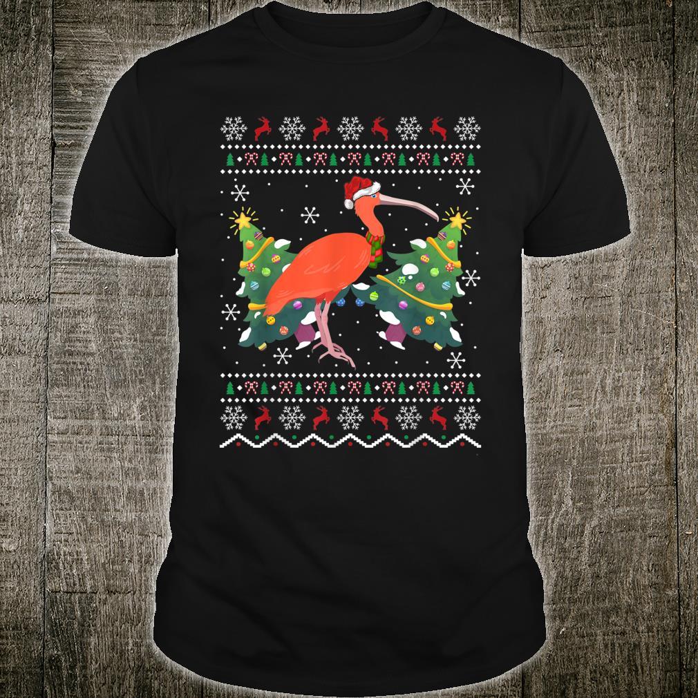 Santa Hat Ibis Bird Xmas Ugly Ibis Christmas Shirt