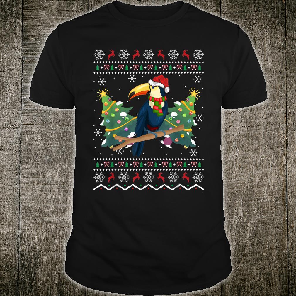Santa Hat Toucan Bird Xmas Ugly Toucan Christmas Shirt