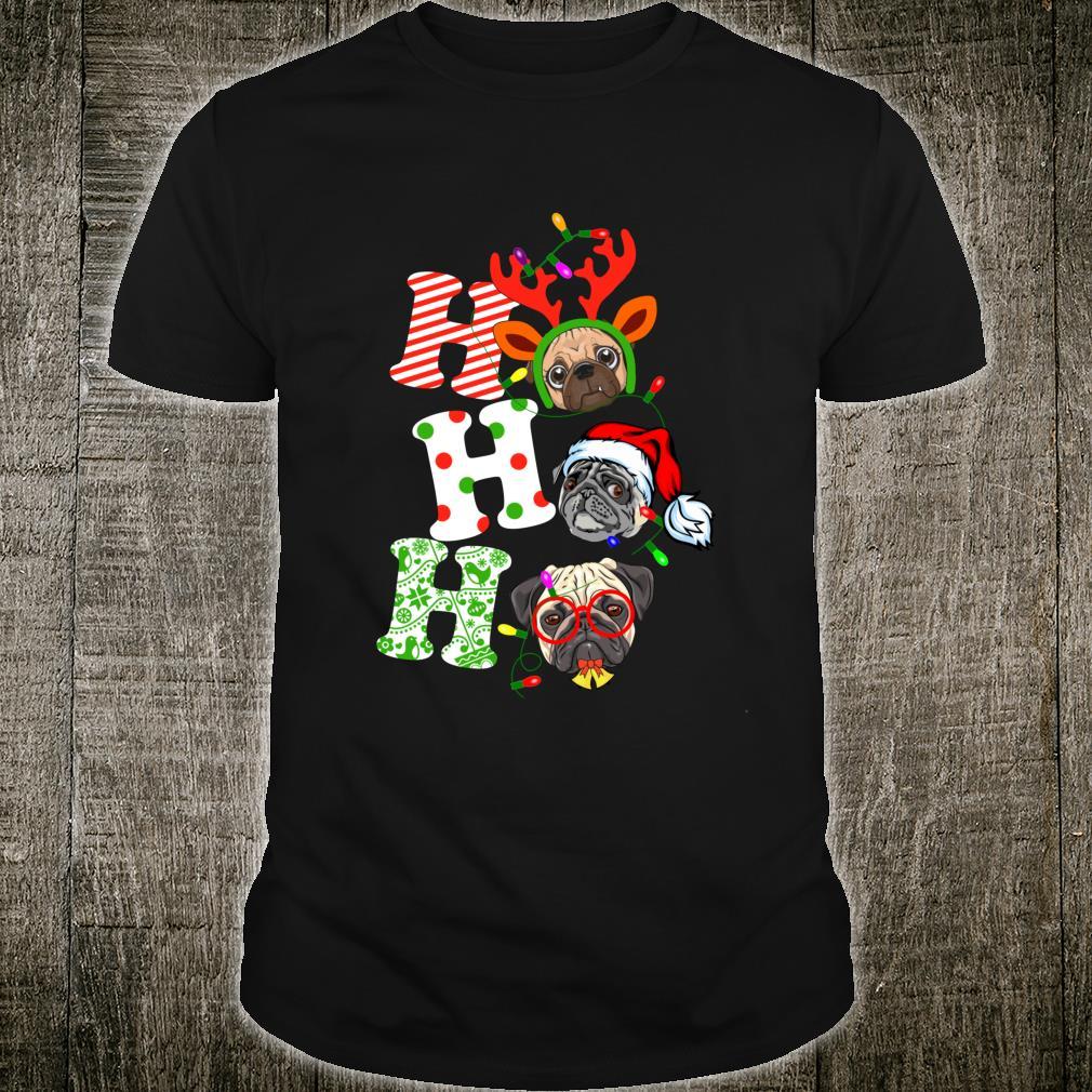 Santa Ho Ho Ho Pug Dog Christmas Pug Shirt