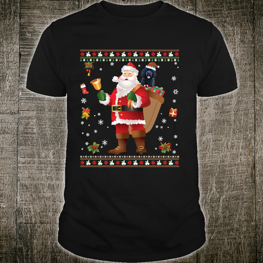 Santa Portuguese Water Dog Present Merry Christmas Shirt