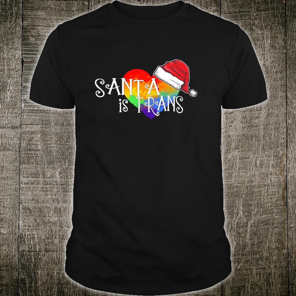 Santa is Trans Transgender Christmas LGBTQIA Xmas Shirt
