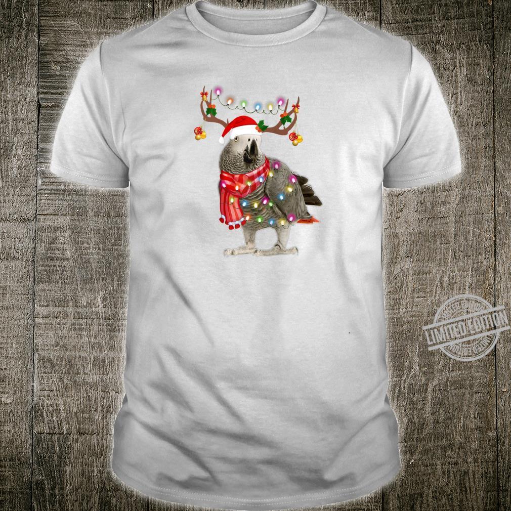 Santa parrot gorgeous reindeer Light Christmas Shirt