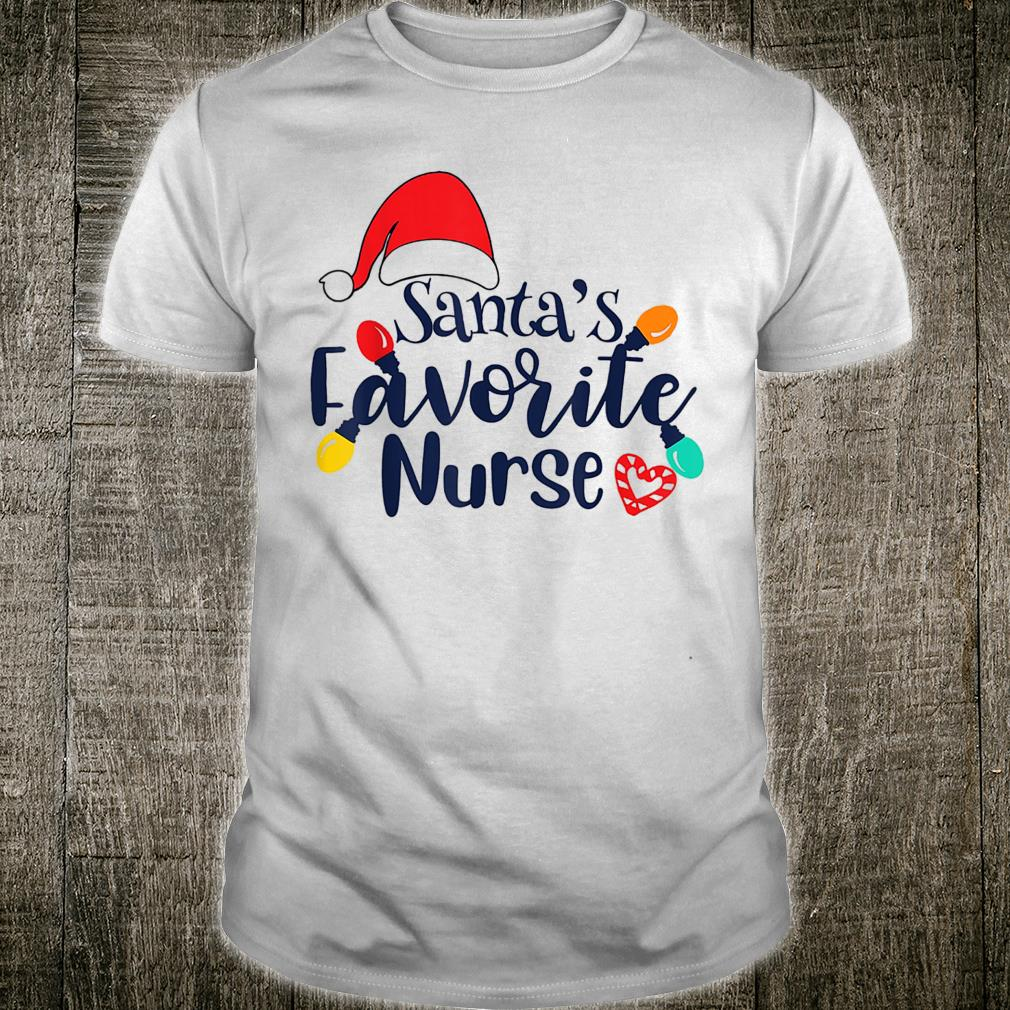 Santa's Favorite Nurse Christmas Shirt