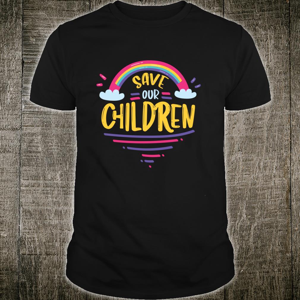 Save Our Children Help The Children Rainbow Shirt