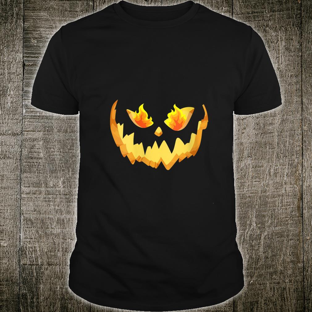 Scary Halloween Pumpkin Face Costume Shirt