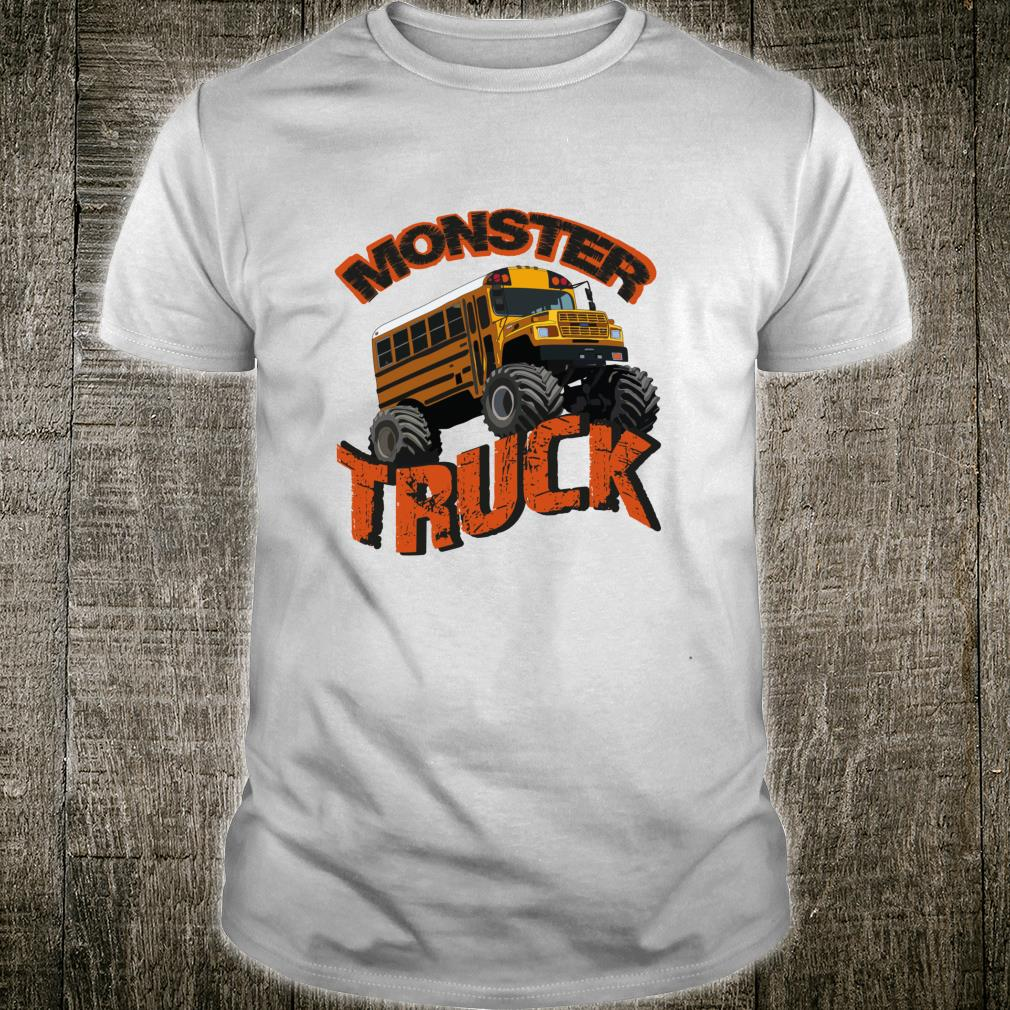 School Bus Monster Truck Orange Rally Artwork Shirt