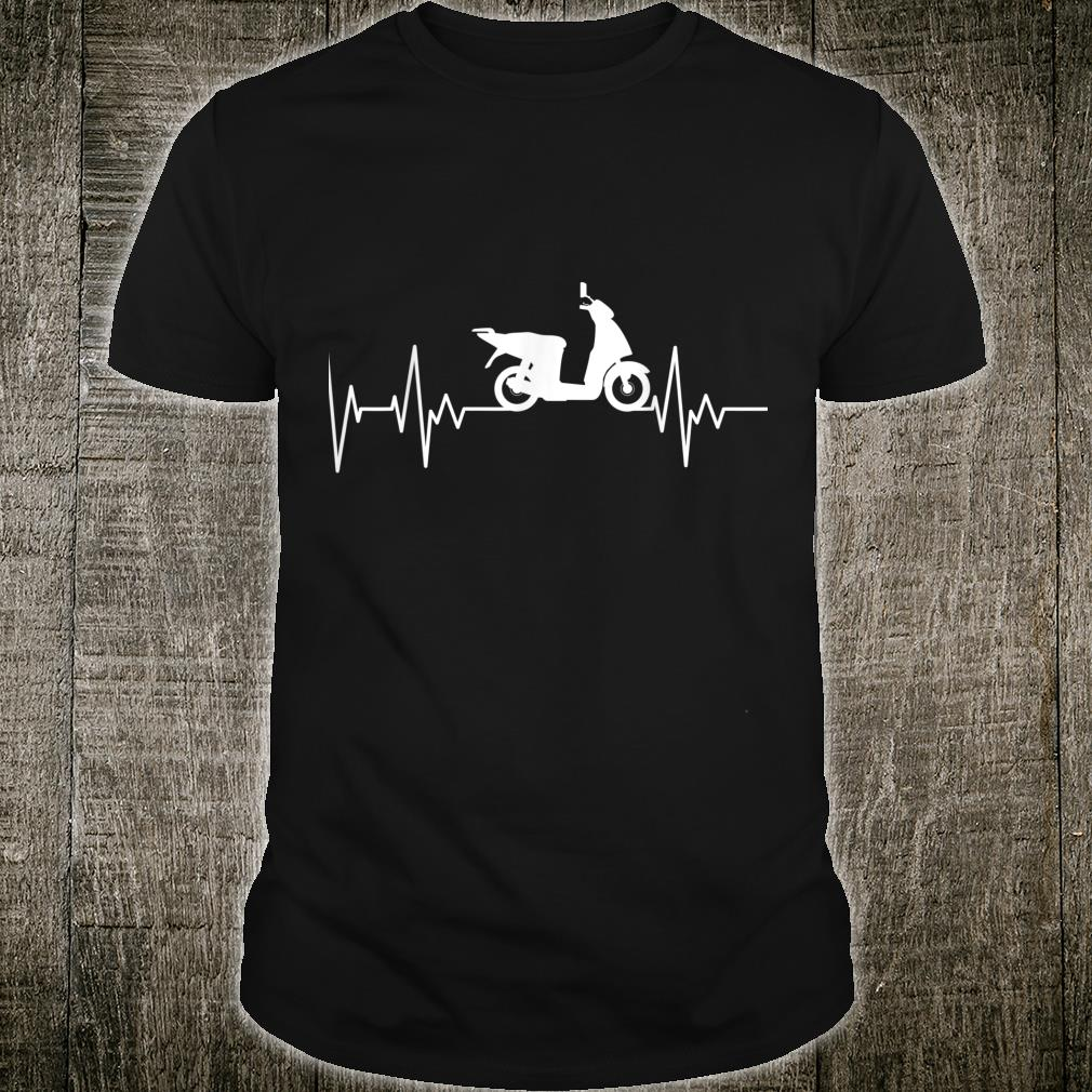 Scooter Scooter Heartbeat Scooter Rider Motorcycle Shirt