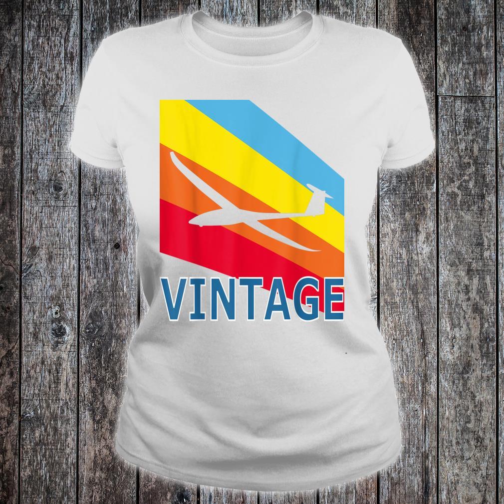 Segelfliegen Segelflieger Fliegen Flieger Retro Vintage Fun Shirt ladies tee